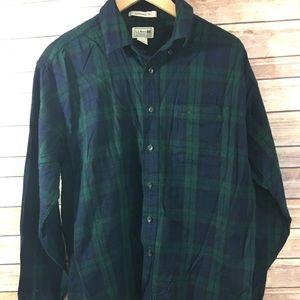 LL Bean Mens Large Button Down Flannel Long Sleeve